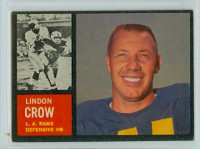 1962 Topps Football 87 Lindon Crow Los Angeles Rams Excellent to Excellent Plus