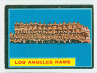 1962 Topps Football 89 Rams Team Single Print Very Good to Excellent