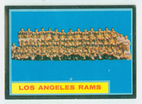 1962 Topps Football 89 Rams Team Single Print Excellent