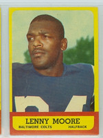 1963 Topps Football 2 Lenny Moore Baltimore Colts Excellent