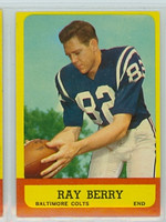 1963 Topps Football 4 Raymond Berry Baltimore Colts Excellent to Mint
