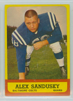 1963 Topps Football 6 Alex Sandusky Baltimore Colts Excellent