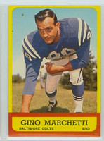 1963 Topps Football 8 Gino Marchetti Baltimore Colts Very Good to Excellent