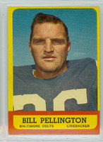 1963 Topps Football 10 Bill Pellington Baltimore Colts Excellent to Mint