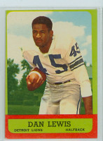 1963 Topps Football 26 Dan Lewis Detroit Lions Very Good to Excellent