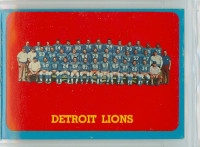 1963 Topps Football 36 Lions Team Single Print Excellent