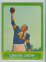 1963 Topps Football 45 Lindon Crow Los Angeles Rams Very Good to Excellent