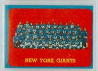 1963 Topps Football 60 Giants team Excellent to Excellent Plus