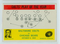 1964 Philadelphia 14 Colts Play (Shula) Excellent to Mint