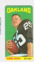 1965 Topps Football 140 Claude Gibson Oakland Raiders Excellent to Excellent Plus