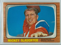1966 Topps Football 43 Mickey Slaughter Denver Broncos Excellent to Mint