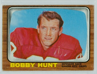 1966 Topps Football 71 Bobby Hunt Kansas City Chiefs Very Good to Excellent