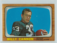 1966 Topps Football 106 Billy Cannon Oakland Raiders Excellent