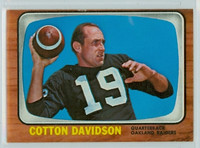 1966 Topps Football 109 Cotton Davidson Oakland Raiders Excellent to Excellent Plus