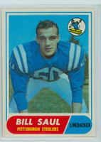 1968 Topps Football 33 Bill Saul Pittsburgh Steelers Excellent to Mint