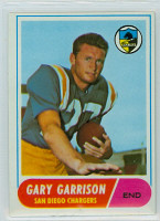 1968 Topps Football 36 Gary Garrison San Diego Chargers Excellent to Mint