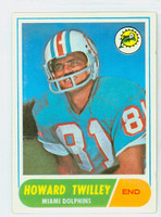 1968 Topps Football 39 Howard Twilley ROOKIE Miami Dolphins Excellent