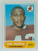 1968 Topps Football 49 Paul Warfield Cleveland Browns Very Good