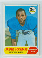 1968 Topps Football 83 Spider Lockhart New York Giants Excellent to Mint