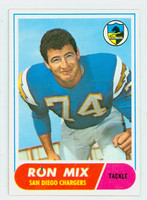 1968 Topps Football 89 Ron Mix San Diego Chargers Excellent