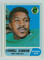 1968 Topps Football 91 Cornell Gordon New York Jets Excellent to Mint