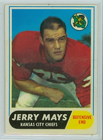 1968 Topps Football 119 Jerry Mays Kansas City Chiefs Excellent to Excellent Plus