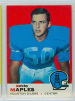 1969 Topps Football 19 Bobby Maples Houston Oilers Excellent to Mint