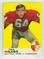 1969 Topps Football 44 Dave Wilcox San Francisco 49ers Near-Mint to Mint