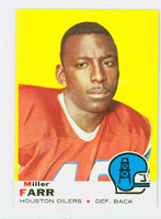 1969 Topps Football 50 Miller Farr Houston Oilers Excellent to Excellent Plus