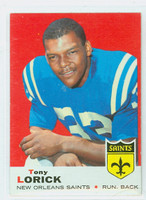 1969 Topps Football 61 Tony Lorick New Orleans Saints Excellent to Excellent Plus