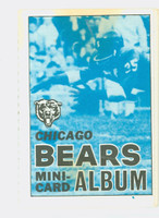 1969 Topps Football 4-1 Booklets 3 Chicago Bears Excellent