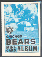 1969 Topps Football 4-1 Booklets 3 Chicago Bears Excellent to Mint