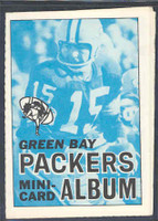 1969 Topps Football 4-1 Booklets 7 Green Bay Packers Excellent to Mint