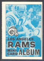 1969 Topps Football 4-1 Booklets 8 Los Angeles Rams Excellent to Mint