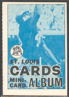 1969 Topps Football 4-1 Booklets 14 St. Louis Cardinals Excellent to Mint