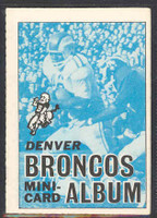 1969 Topps Football 4-1 Booklets 20 Denver Broncos Excellent to Mint