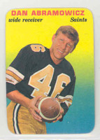 1970 Glossy Football 14 Dan Abramowicz New Orleans Saints Excellent to Mint