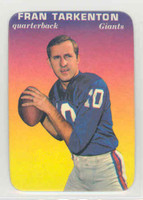 1970 Glossy Football 15 Fran Tarkenton New York Giants Excellent to Mint