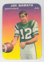 1970 Glossy Football 29 Joe Namath New York Jets Excellent to Mint