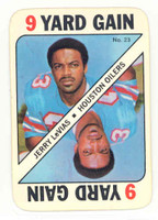 1971 Topps Football Game 23 Jerry Levias Houston Oilers Near-Mint