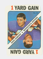 1971 Topps Football Game 31 Dave Osborn Minnesota Vikings Very Good to Excellent