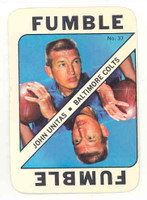 1971 Topps Football Game 37 Johnny Unitas Baltimore Colts Excellent