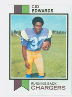 1973 Topps Football 13 Cid Edwards San Diego Chargers Excellent