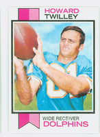 1973 Topps Football 21 Howard Twilley Miami Dolphins Excellent to Mint