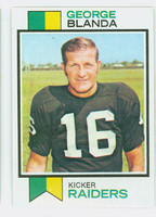 1973 Topps Football 25 George Blanda Oakland Raiders Excellent to Mint
