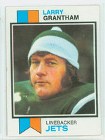 1973 Topps Football 74 Larry Grantham New York Jets Excellent
