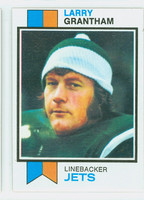 1973 Topps Football 74 Larry Grantham New York Jets Excellent to Mint