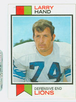 1973 Topps Football 93 Larry Hand Detroit Lions Excellent