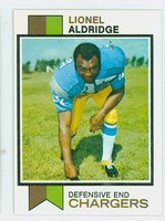 1973 Topps Football 174 Lionel Aldridge San Diego Chargers Excellent to Mint