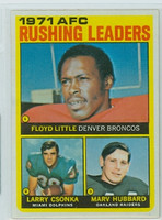 1972 Topps Football 1 AFC Rushing leaders Excellent to Mint